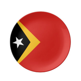 East Timor Flag Porcelain Plate