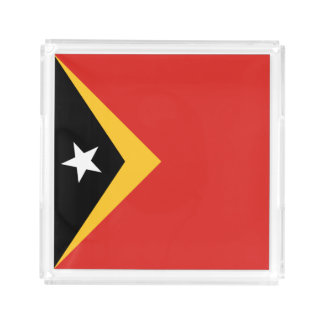East Timor Flag Serving Tray