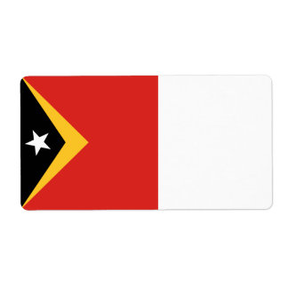 East Timor Flag Shipping Label