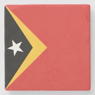 East Timor Flag Stone Coaster