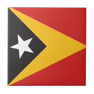 East Timor Flag Tile