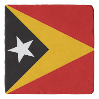 East Timor Flag Trivet