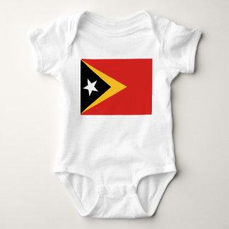 East Timor National World Flag Baby Bodysuit