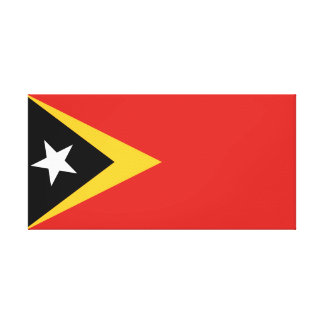 East Timor National World Flag Canvas Print