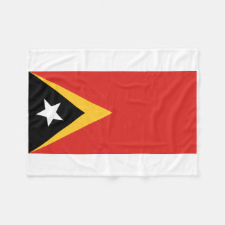 East Timor National World Flag Fleece Blanket
