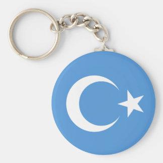 East Turkestan Basic Round Button Keychain