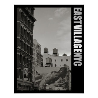 East Village New York City Poster