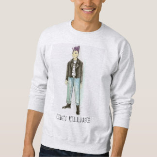 East Village NYC Mohawk Punk Rock Sweatshirt