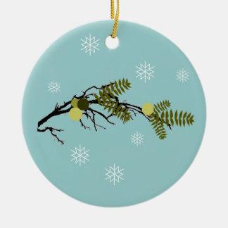 East Walnut Hills Round Ceramic Ornament