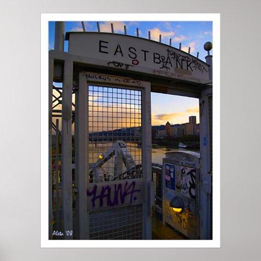 Eastbank Burnside Bridge ~ Portland Oregon Posters