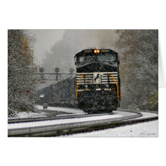 Eastbound in Snow at Ardara Card
