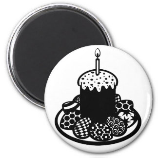 Easter 2 Inch Round Magnet