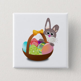 Easter 2 Inch Square Button