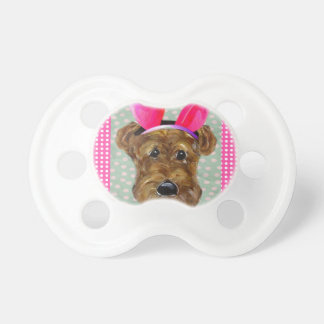 EASTER AIREDALE BABY PACIFIER