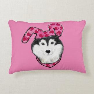 Easter Alaskan Malamute Accent Pillow