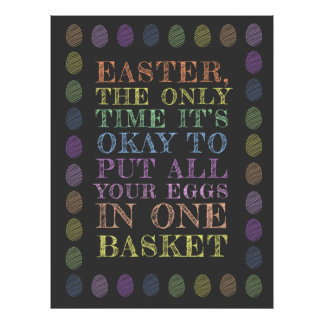 Easter - All your eggs in one basket Poster