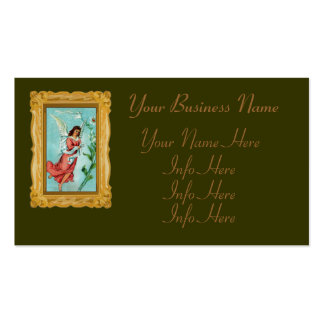 Easter Angel With Flowers Business Card