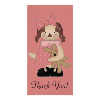 Easter Annie Loving A Teddy Bear Photo Card