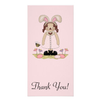 Easter Annie with Bee, Fowers, and Eggs Picture Card