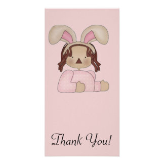 Easter Annie with Pink Blouse Customized Photo Card