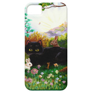 Easter Art Black Cat Bunny Christian Creationart iPhone 5 Case