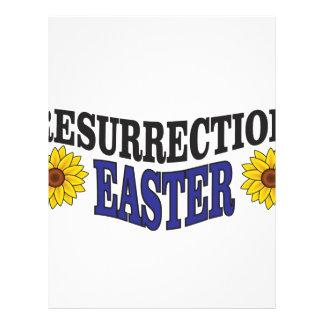 easter art fun personalized letterhead