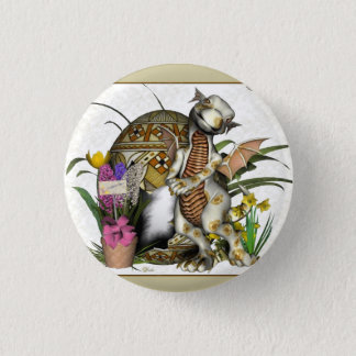Easter Baby Dragon Badge/Button 1 Inch Round Button