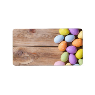 Easter Background. Copy Space. Top View Label
