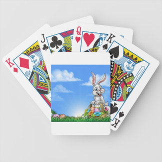 Easter Background with Bunny and Eggs Bicycle Playing Cards