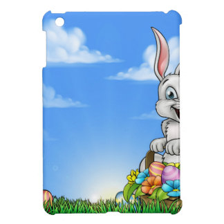 Easter Background with Bunny and Eggs iPad Mini Cover