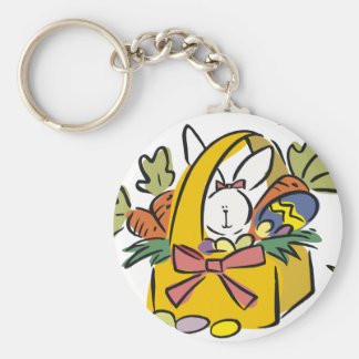 Easter Basic Round Button Keychain