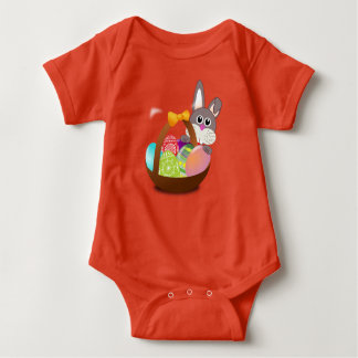 Easter basket baby bodysuit