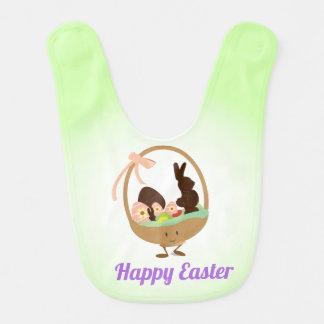 Easter Basket Cartoon with Words | Baby Bib