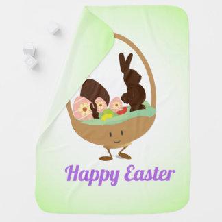 Easter Basket Cartoon with Words | Baby Blanket