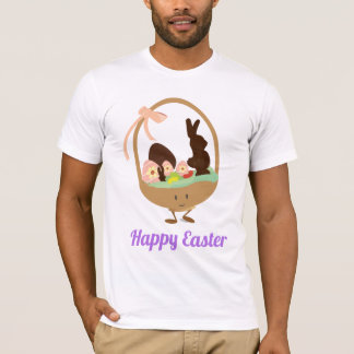 Easter Basket Cartoon with Words | Mens T-shirt