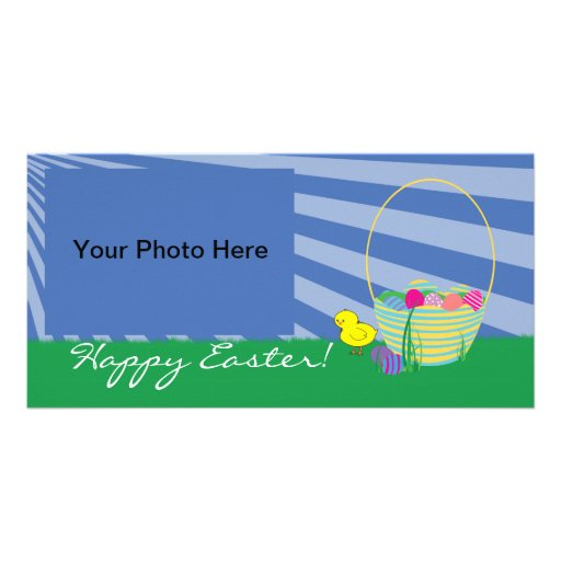 Easter Basket & Chick Photo Card - Add Your Photo