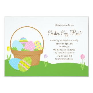 Easter Basket Egg Hunt Party Invitation
