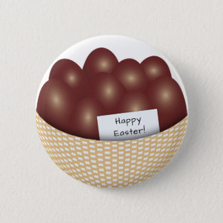 Easter Basket with Chocolate Eggs Button