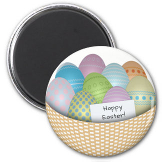Easter Basket with Colored Eggs Magnet