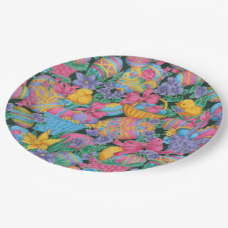 Easter Baskets and Eggs 9 Inch Paper Plate