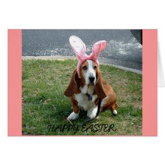 Easter basset, HAPPY EASTER card