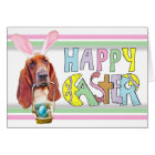 Easter Basset Hound Card