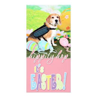 Easter - Beagle - Brady Photo Greeting Card