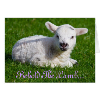 Easter Behold the Lamb Greeting Card
