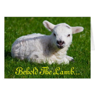 Easter Behold the Lamb II Greeting Card