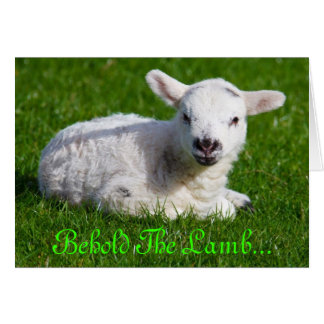 Easter Behold the Lamb III Greeting Card