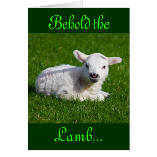 Easter Behold the Lamb III Greeting Cards