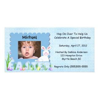 Easter Birthday Invitation Picture Card