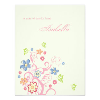 """Easter Birthday Personalized Thank You Notecard 4.25"""" X 5.5"""" Invitation Card"""