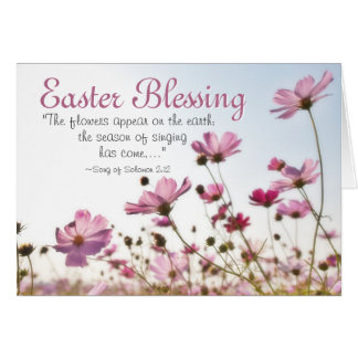 Easter Blessing Inspirational Bible Verse Card